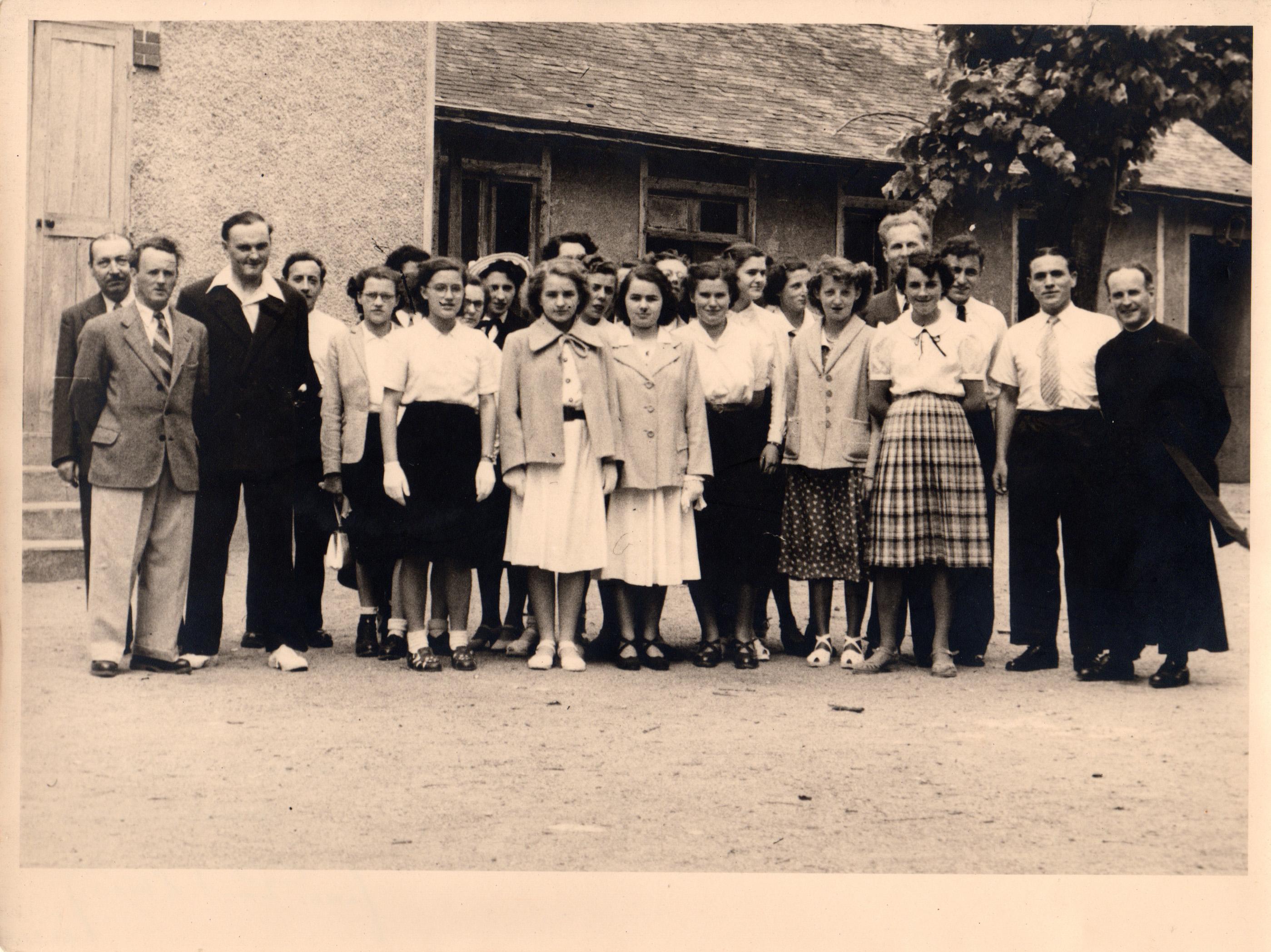 Les membres de l'association en 1950