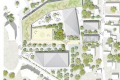 Le futur collège du nord-est d'Orléans. - Archi5 Prod Facea Claude Mathieu associés